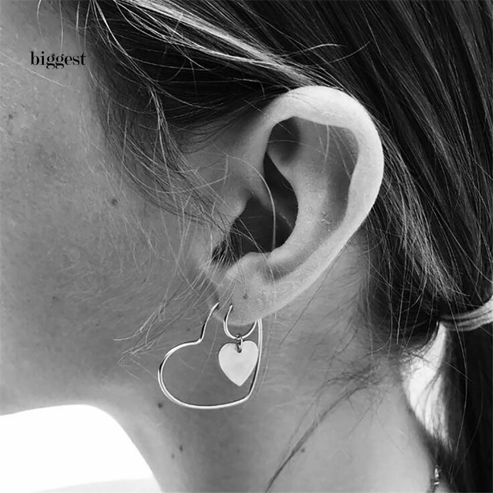 4Pcs Large Hoop Earrings Hip-Hop Ladies Big Circle Nightclub Dangle Earrings