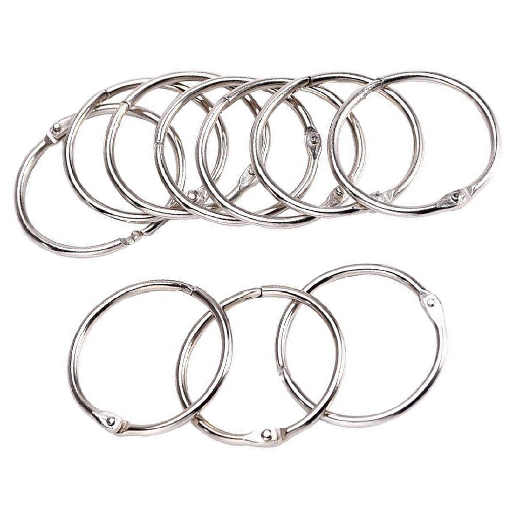 55mm 2 17 Inch Large Book Ring Key Keychain Bathroom Shower Curtain Rings 50pcs