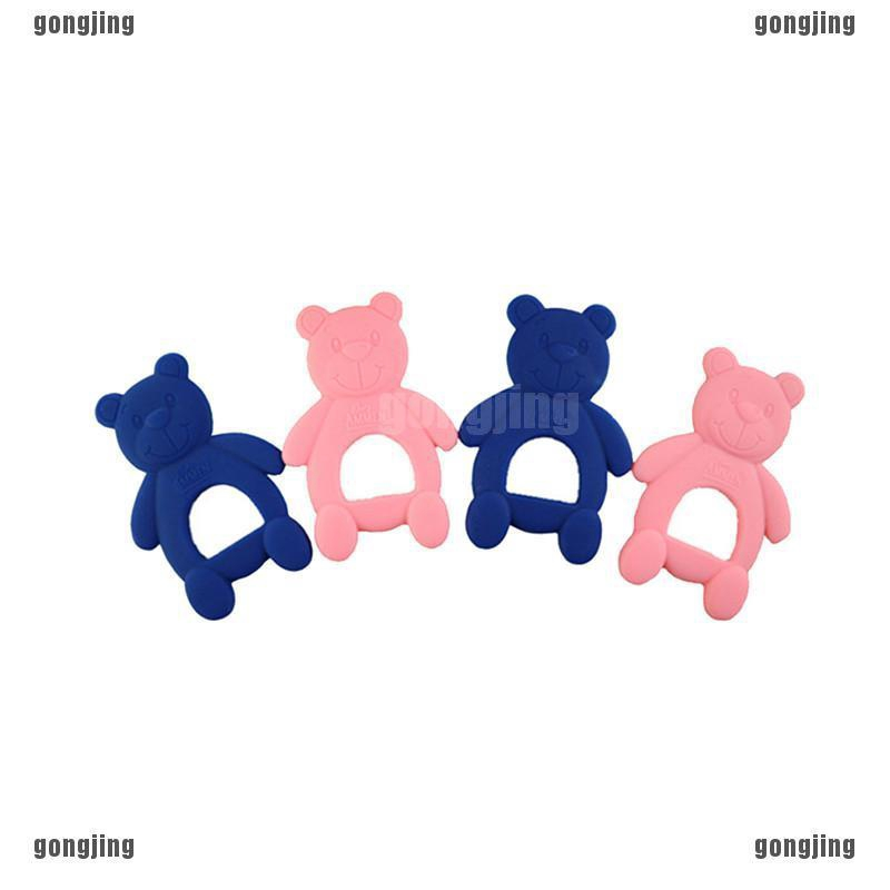 Cartoon Bear Food Grade Biting Rubber Teething Baby Teether Silicone Safety