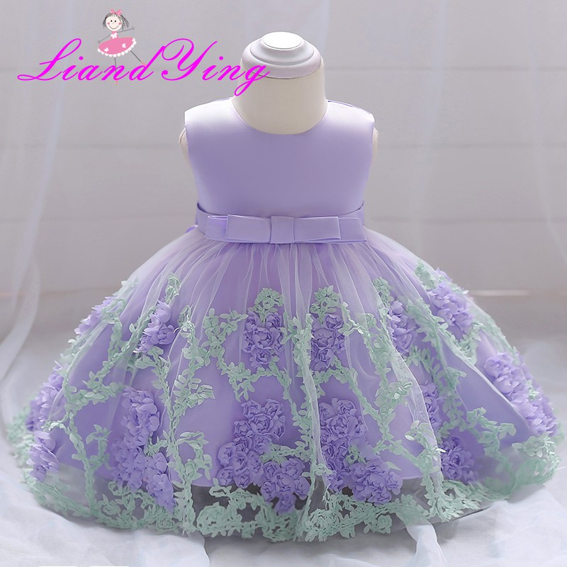 Baby Girl 1 Year Birthday Dress Infant Christening Gowns Kids Party ...