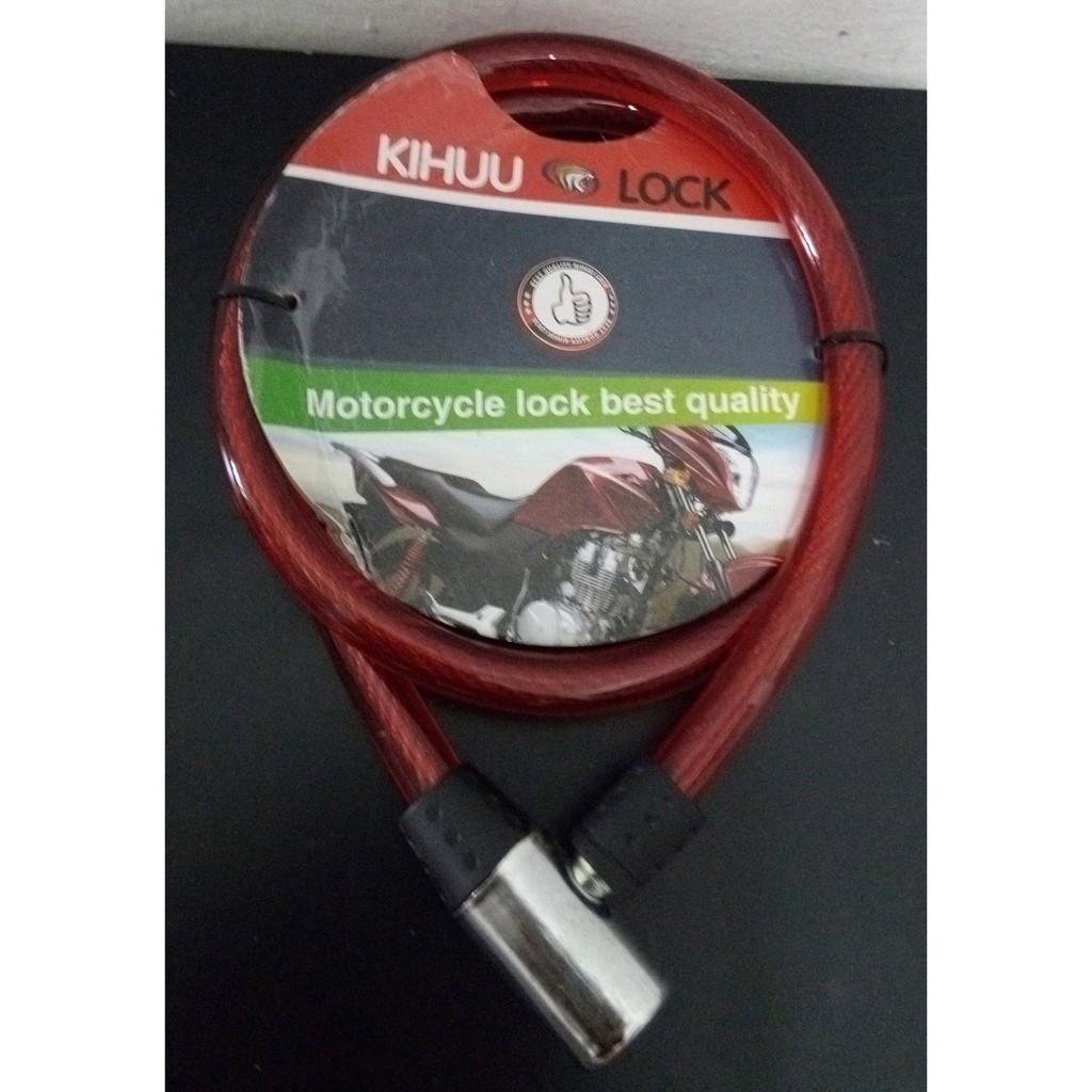 Red Helix Stick Steel Motorcycle Kihuu Lock 10 x 1000mm