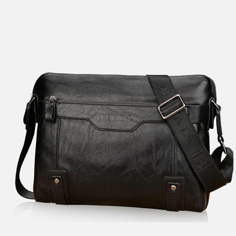 Bags Present A Wallet (Black) Soft Leather Business Bag Horizontal Shoulder | Shopee Malaysia
