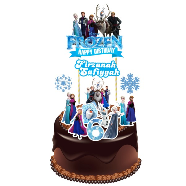 Superb Frozen Theme Cake Topper Shopee Malaysia Funny Birthday Cards Online Elaedamsfinfo