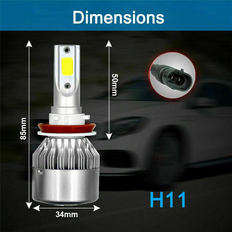 Pair 560W 56000LM H7 Car Auto DRL LED Headlight White Beam Bulbs Kit 6000K Power
