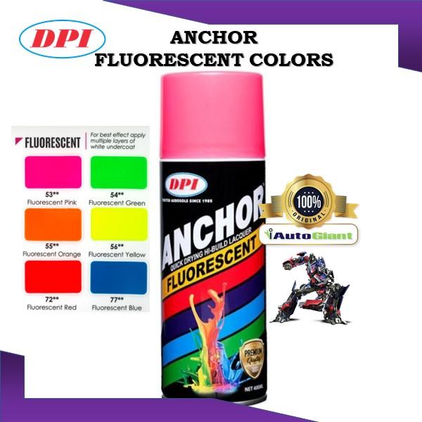 ANCHOR SPRAY PAINT FLUORESCENT, 400ML, NO. 53, 54, 55, 56, 72- (100% ORIGINAL), UV light, NEW STOCKS