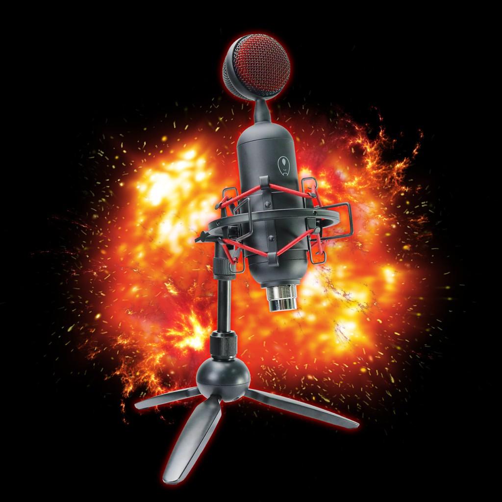 Gaming Freak Microphone Chanter Bullet (GF-CHANTERBLLT) - Cardioid Pattern, Shock Mount & Tripod Stand Incl