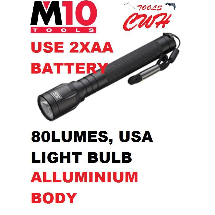 LE252 M10 ALUMINIUM 1W LED FLASHLIGHT TORCH LIGHT LANTERN LE-252 NICRON BLACK HARDWARE BLACKHHOME CWH TOOLS