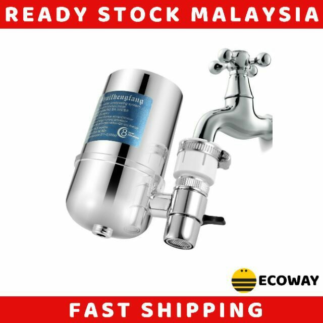 Drinking Water Filter Home Kitchen Healthy Drinking,Easy Installation Sengei Faucet Water Filter Water Purifier for Kitchen Faucet white