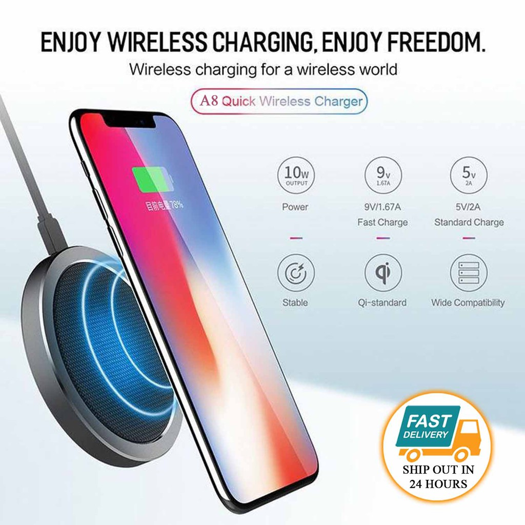APPLE A8 Ultra Thin Wireless Charger with the design of fast tranmission coil