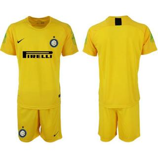 sneakers for cheap 7cd88 c7e19 Inter Milan Blank Yellow Goalkeeper Soccer Club Jersey ...