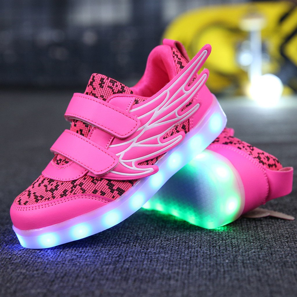 Men/'s 7 Color LED Luminous Shoes Breathable Sneakers Boy Girls Unisex KIDS Shoes