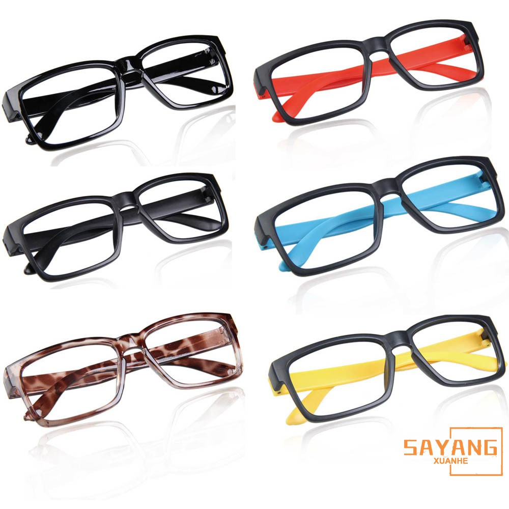 Black Red Fashion Unisex Hipster No lens Glasses Frame Decorative Eyeglass Frames