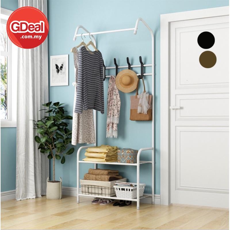 GDeal Multifunctional Simple Coat Rack Bedroom Cloth Organizer Hanger Rak Pakaian رق ڤاكاين