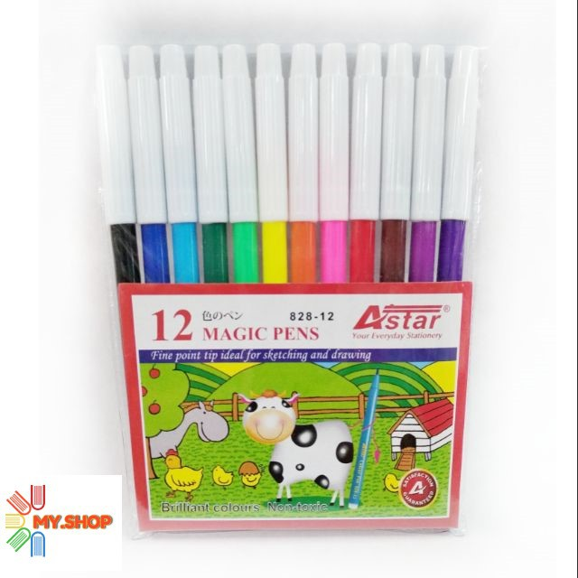 Astar 12 Colour Fine Point Magic Pen 828-12