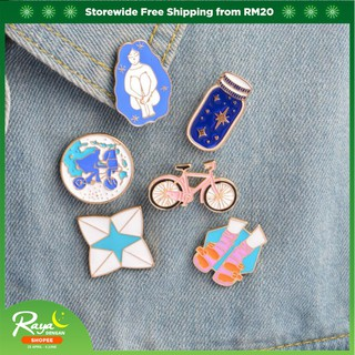 c2ecc18e6 Metal Enamel Pins Bike Bottle Riding Girl Shoes Origami Game Brooch Pin  Badge | Shopee Malaysia