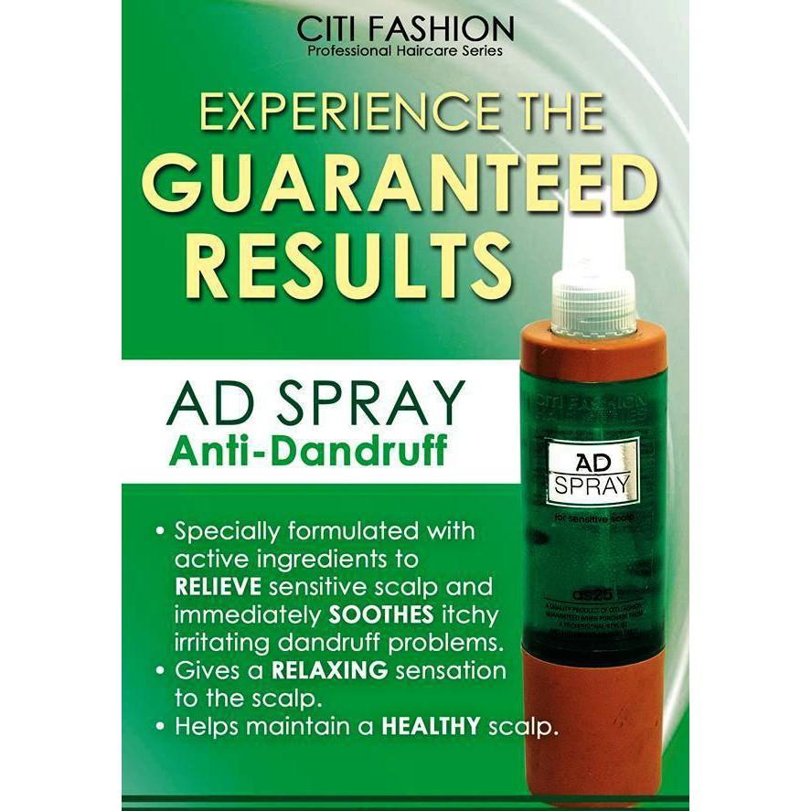 Citi Fashion Anti-dandruff AD Spay (HALAL)抗头皮,止痒头皮营养喷雾