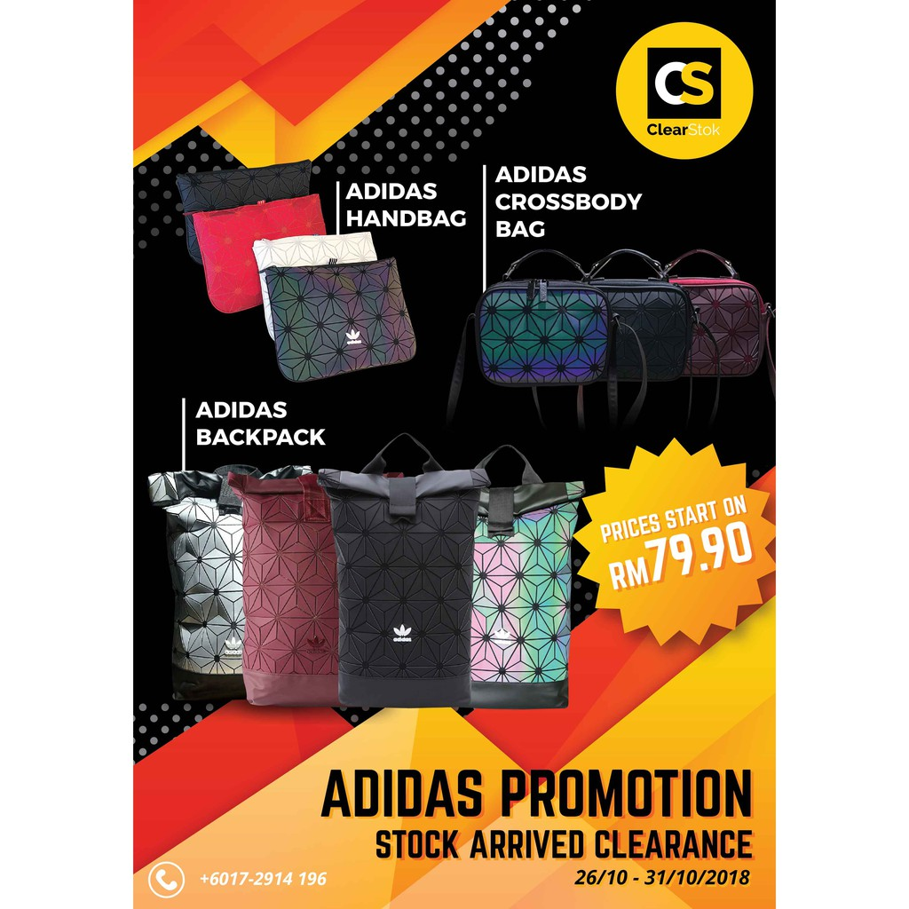 ADIDAS PROMOTION Backpack, Handbag, Crossbody Bag Special Discount