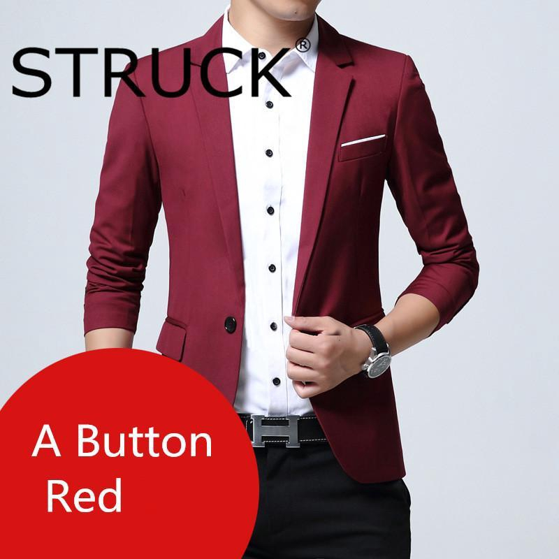 Luxury Men S Wedding Suit Male Trailblazer Slim Suit Men S Clothing Business Formal Party Jacket Blue Black Red Gray Shopee Malaysia