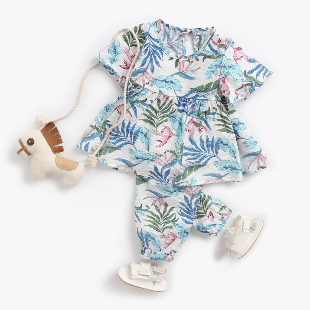 Pants 2PCS Outfits PPBUY Toddler Girls Floral T-shirt Dress 6-12M, Pink Baby Clothes Set