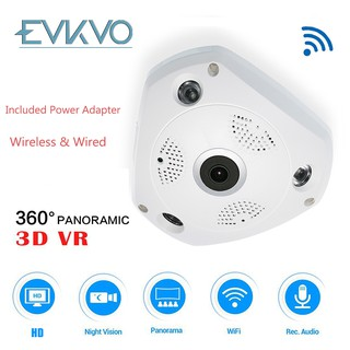 EVKVO V380 APP Dome HD 2MP 360 Degree VR Panorama WIFI IP