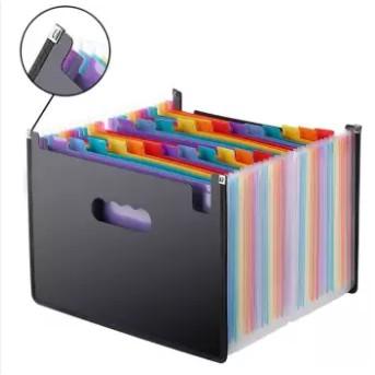 Expanding File Folder 24 Pockets, black Accordion A4 folder 文件夹