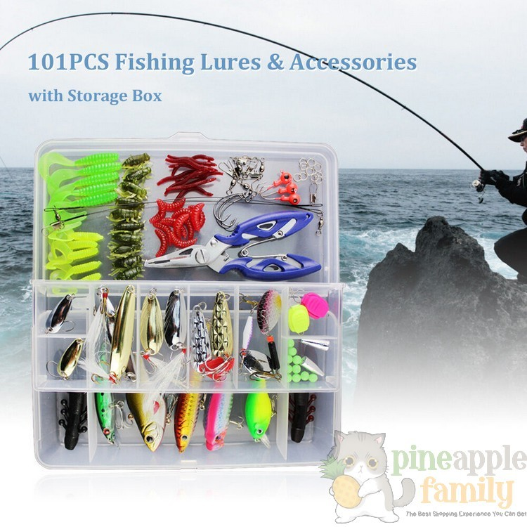 fast-shop Fishing Lures,100pcs 5 Colors Fishing Tackle Kit Artificial Bread Worm Simulation Fishing Lure Baits Soft Rubber Maggot Baits with Box 24mm Useful and Durable