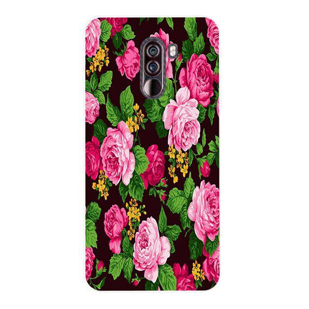 Xiaomi Mi 8 9 SE Lite Pocophone F1 Peony Silicon Case