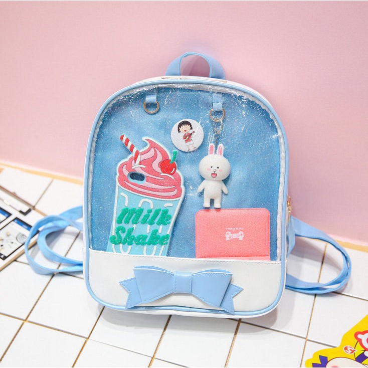 Lolita Transparent Jelly Candy Clear Itabag Sweet Backpack Harajuku School Bag