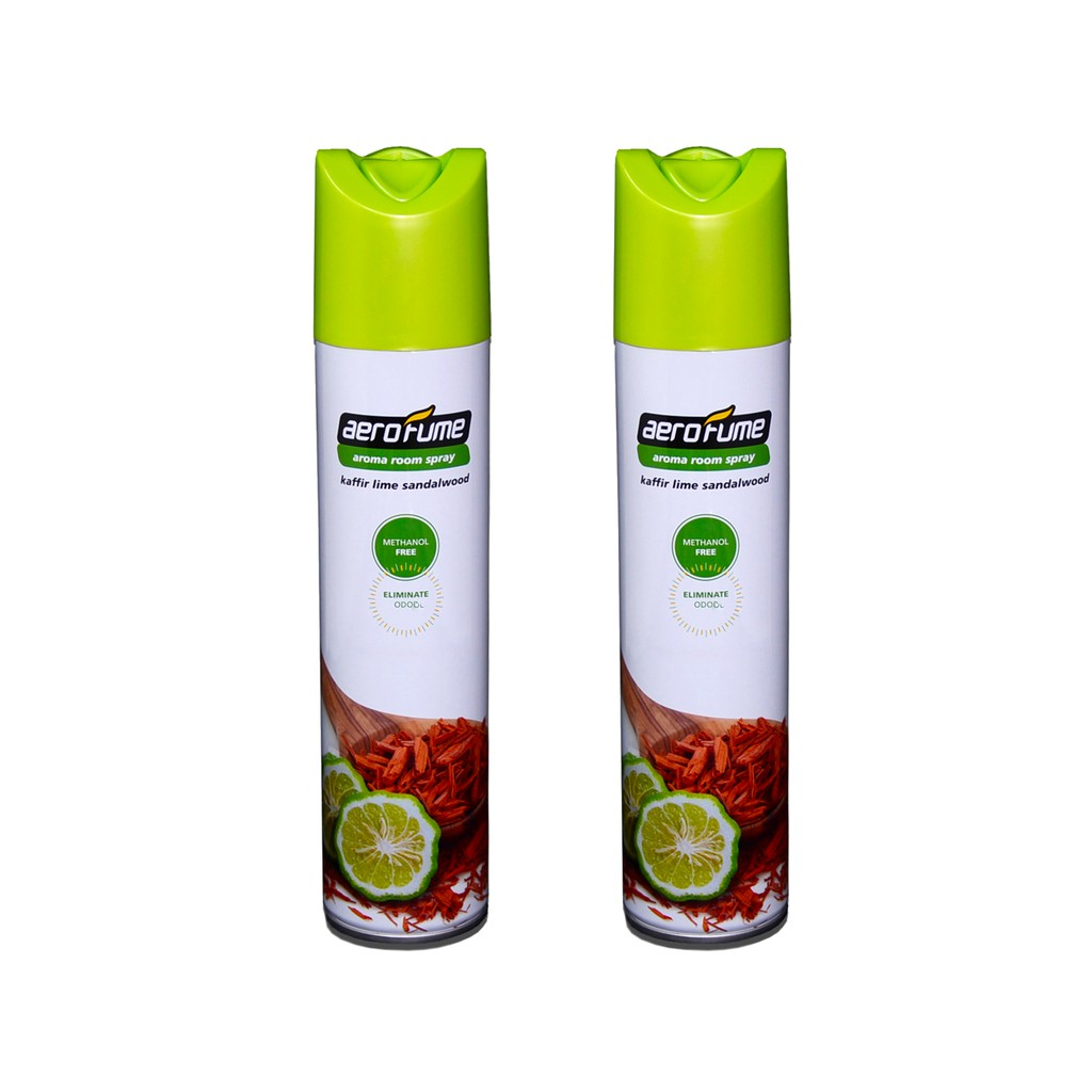 Kaffir Lime Sandalwood Aroma Spray Air Freshener Twin Pack Aerofume (320ml x 2) Room Spray Perfume