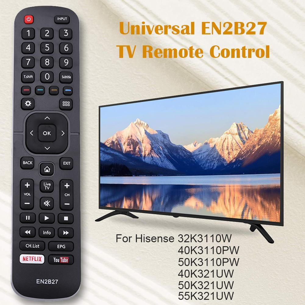 🍃🍃Universal EN2B27 TV Remote Control for Hisense 32K3110W 40K3110PW  50K3110PW