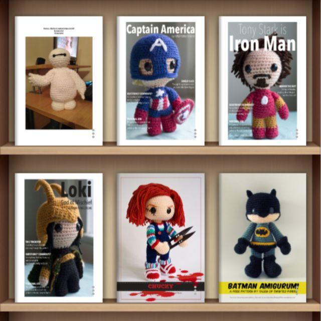 Iron Man and Captain America Amigurumi Crochet Pattern ⋆ Crochet ... | 640x640