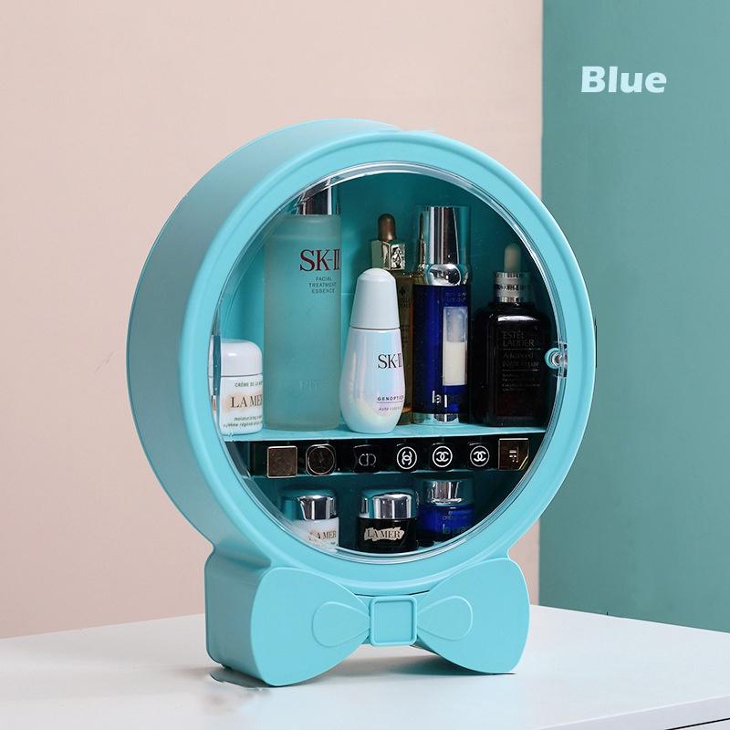 GDeal Wall Mounted Cosmetic Storage Box Dustproof Waterproof Large Capacity Organizer Shelf