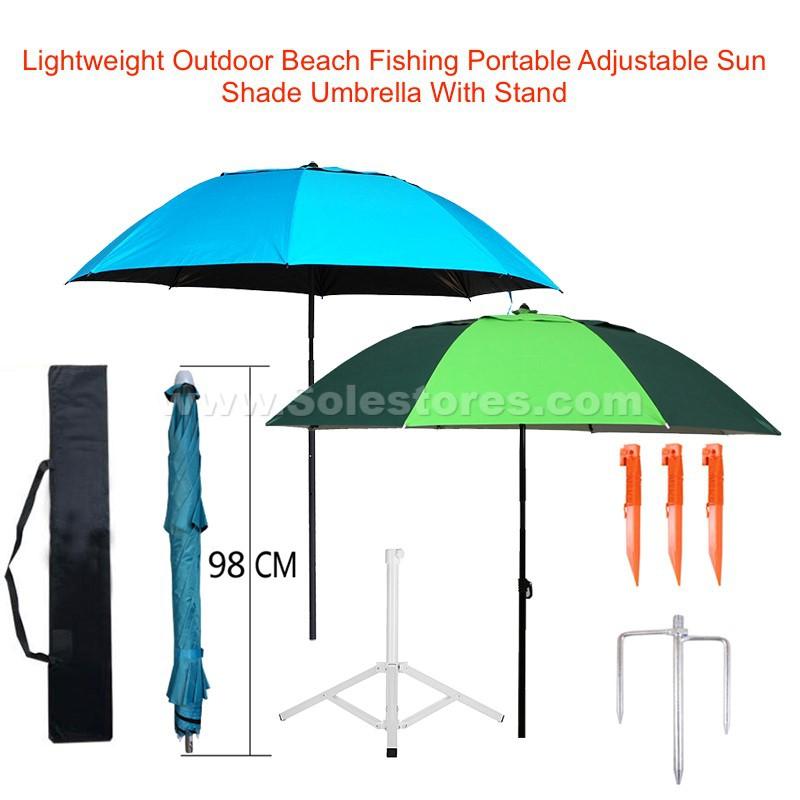 c54dc571d794 Lightweight Outdoor Beach Fishing Adjustable Sun Shade Umbrella With Stand