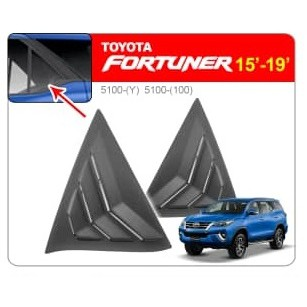 [FREE Gift] TOYOTA FORTUNER 2016 - 2019 MUSTANG Aerodynamic ABS Rear Side Window Louver Cover Guard Protector (Pair)