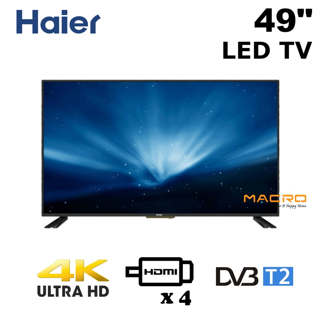 "*READY STOCK* Haier LE49F1000U 49"" Ultra HD UHD 4K LED TV"