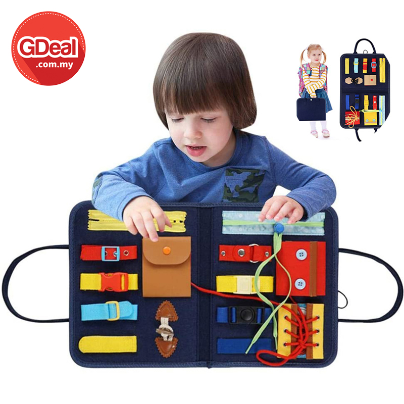 GDeal Toddler Felt Busy Board Learn to Dress Early Childhood Education Practice Board Gift