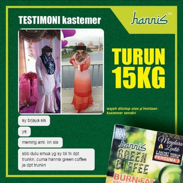 Image result for hannis green coffee testimoni