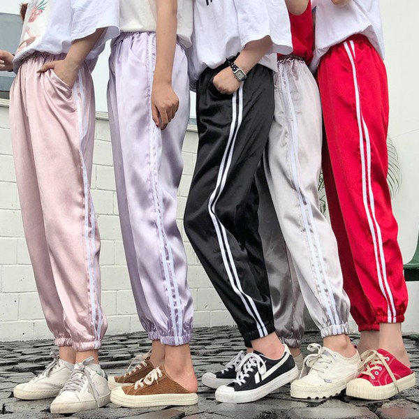 525c28d0 Women trousers casual slack pants, girls sports pants track pants ...