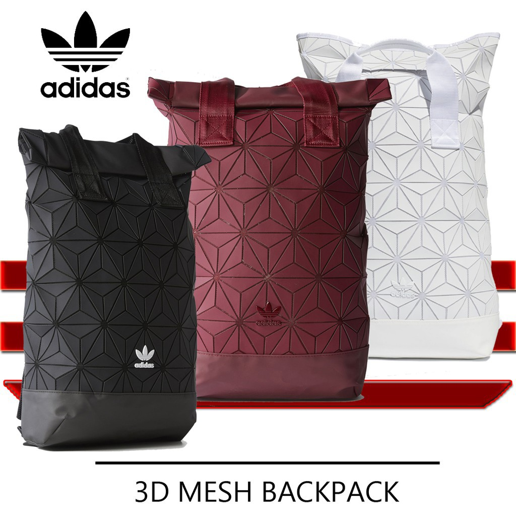 1d97b477a77 Limited Edition Adidas x Issey Miyake 3D Urban Mesh Roll Up Backpack Bag    Shopee Malaysia