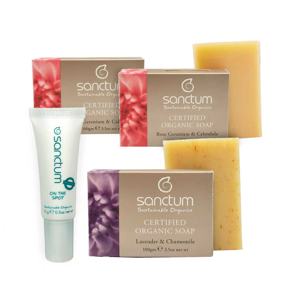 LAST STOCK!Exp: Aug2020 - (1) On The Spot 15g + (2) Organic Rose Body Soap 100g + (1) Lavender Body Soap 100g
