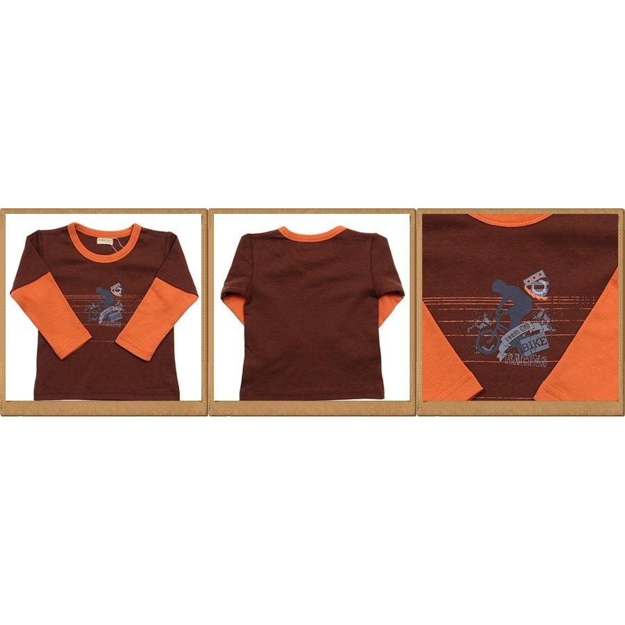 Noisebox Bike Layer Top-Brown-Orange For Age 12 Yrs Old