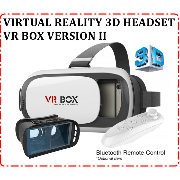 VR BOX ii VIRTUAL REALITY 3D HEADSET WITH BLUETOOTH CONTROLLER A ... f15514612c