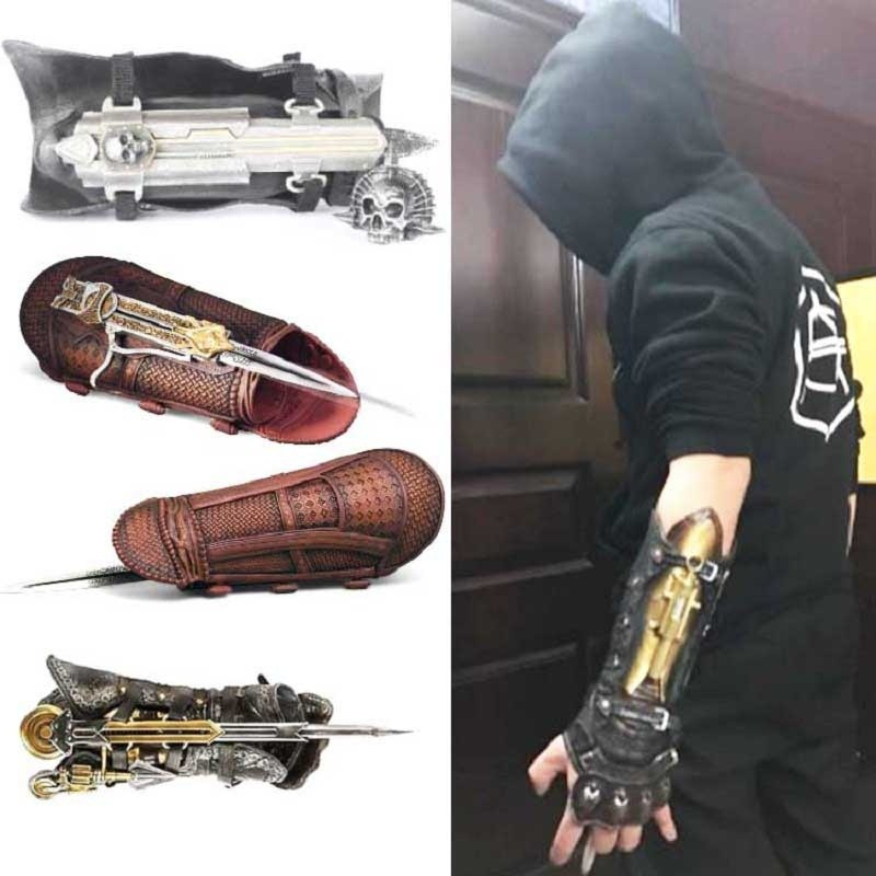 4 6 Generation Assassins Creed Hidden Blade Toy Action Figures Gauntlet Shopee Malaysia