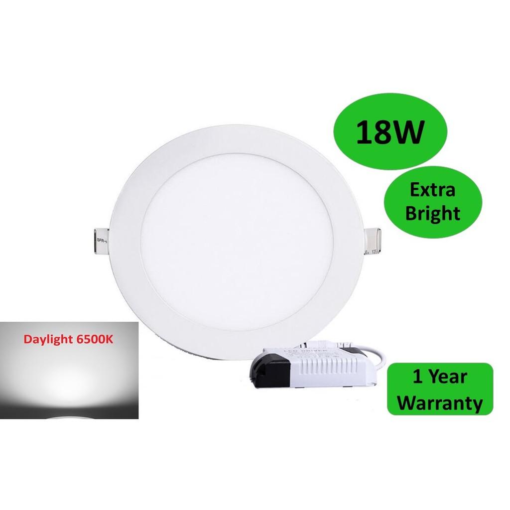 6 Inch LED Downlight 18W LED Panel Light (Day Light / Warm White) Round