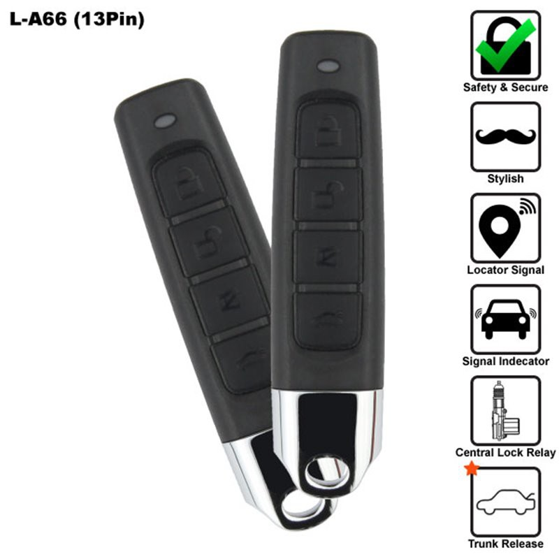 [FREE Gift] SKY 13 Pin 4-BUTTON MULTI FUNCTION CAR ALARM SYSTEM MADE IN KOREA