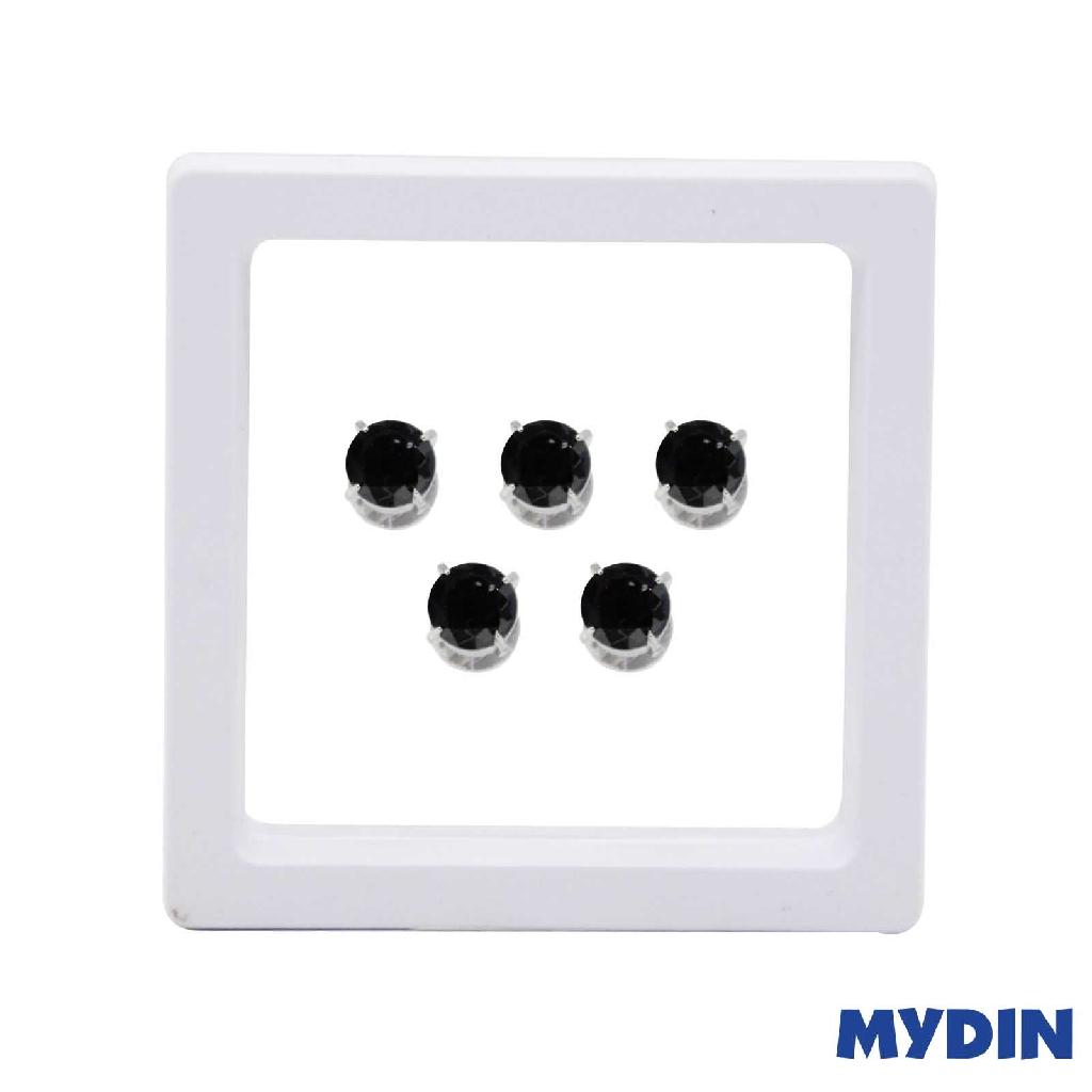 Armaan Button Zircon Black 10MM SACBDB-20 #Raya
