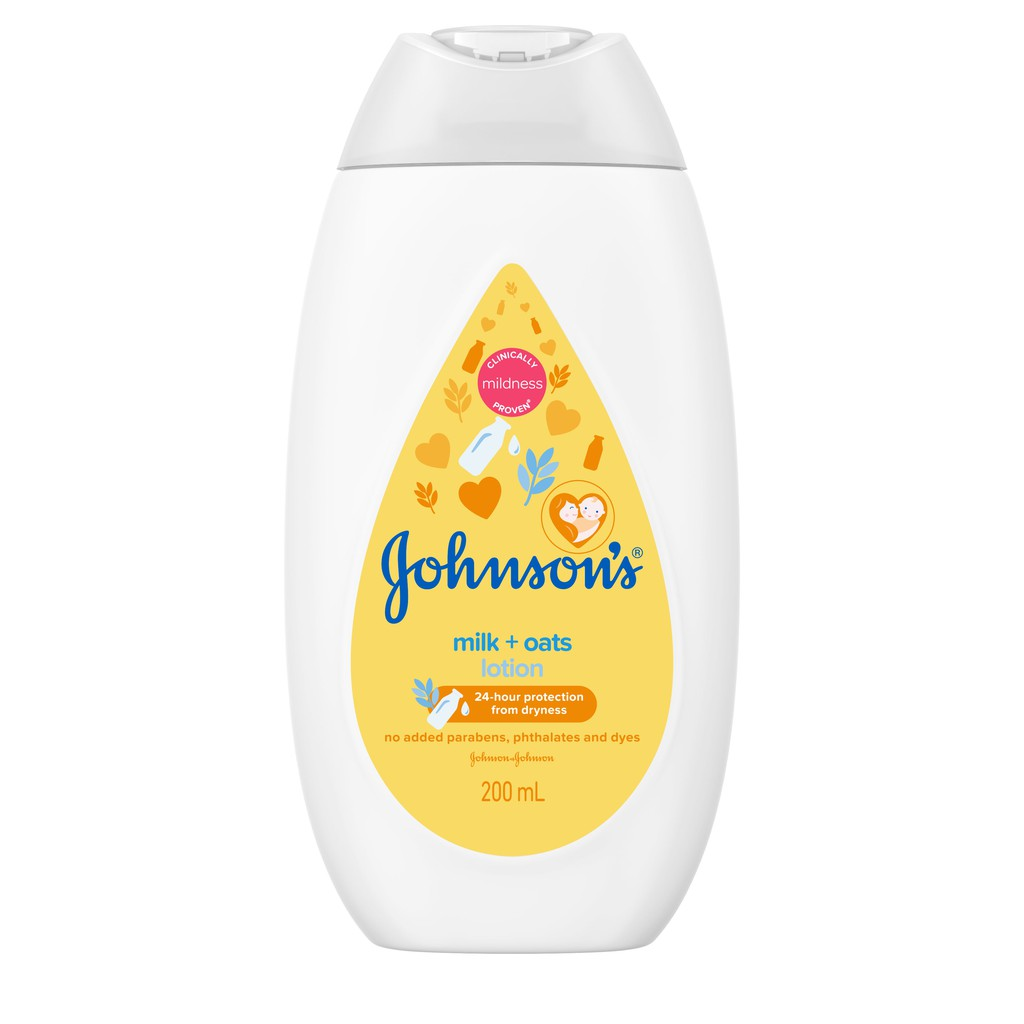 Johnson's Baby Lotion Milk & Oat (200ml)