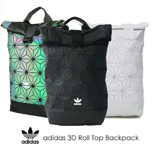 5de125e8d0  AUTHENTIC100%  Adidas 3D Mesh Roll Top Backpack  Issey Miyake Style Bag  Fashion