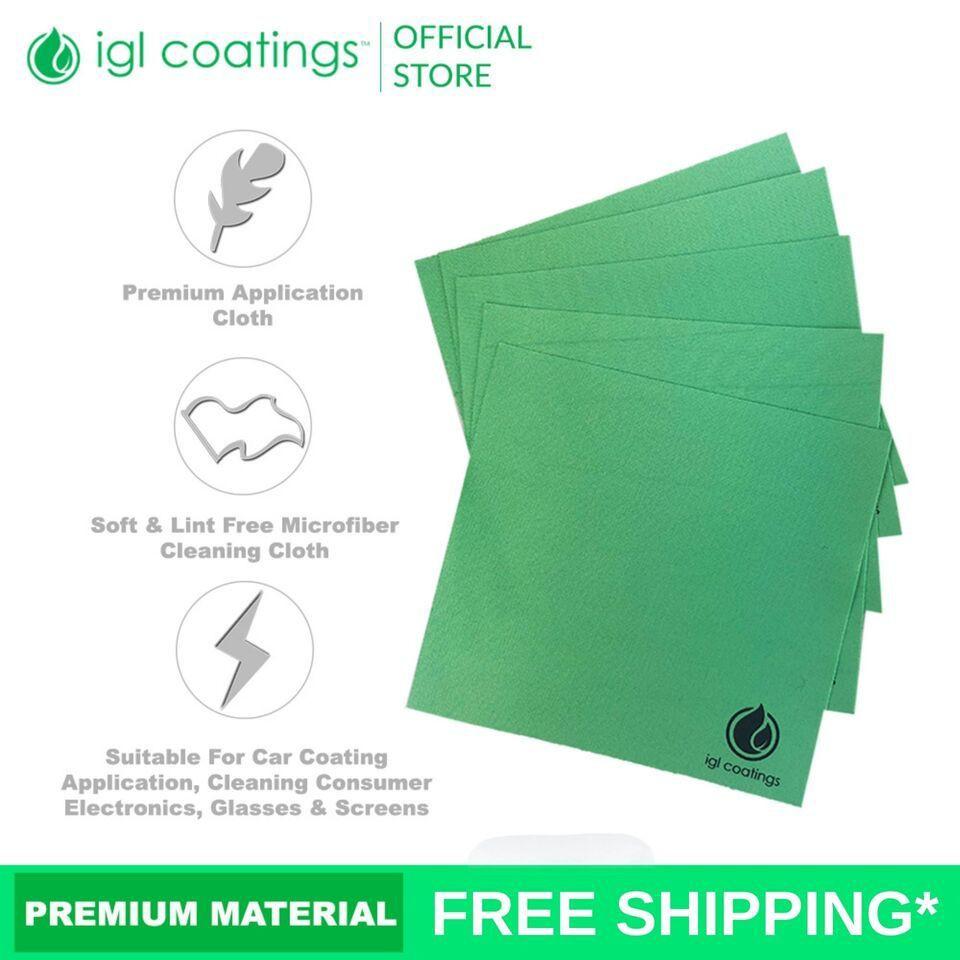 10 PCS IGL Coatings Premium Microfiber Optical Application Cleaning Cloth (10 Pcs)