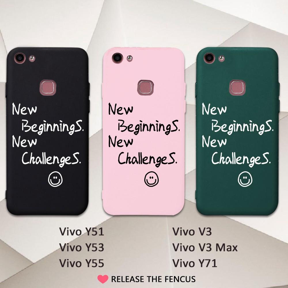 save off e49a7 e2ae7 💥 Vivo Y51 Y53 Y55 V3 MAX Y71 Cute Cover Lover Funny Letter Soft y55s  casing